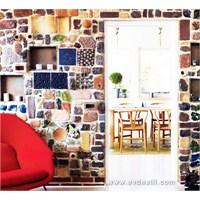 Renkli Taş Dekorlu Duvar