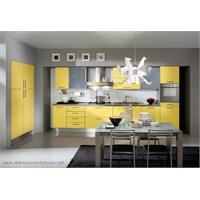 Sarı Renkli Mutfak Dolapları