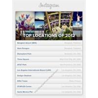 İnstagram 10 En Popüler Lokasyonu Listesi 2012