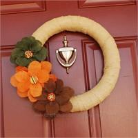 Sonbahar Temalı Kapı Süsü