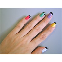 Renkli French- Nail Art
