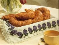 Renkli İş Kanaviçe Ekmek Sepeti Örtüsü