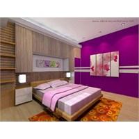 Mor Renkli Yatak Odaları