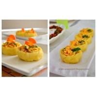 Havuçlu Patates ve Patlıcanlı Biber Salatası