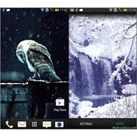 Android Kar Yağışı Canlı Duvar Kağıdı