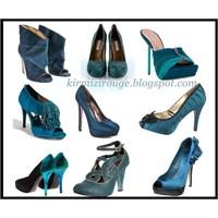 Petrol Rengi Ayakkabılar