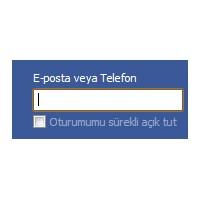 "Facebook ""E-posta Veya Telefon"""