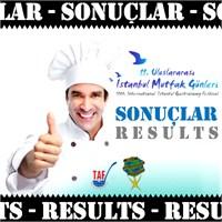İstanbul Mutfak Günleri Yarışma Sonuçları