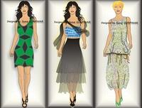 2010 İlkbahar-yaz - Çizim Elbise Modelleri