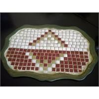 Polyester Tepsi Üzerine Mozaik Denemesi