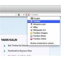 Yandex , Firefox'un Arama Listesine Girdi...