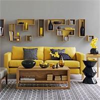 Sarı Ve Gri Temalı Ev Dekorasyonu…