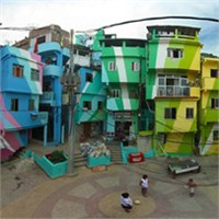Renklenen Brezilya Gecekonduları