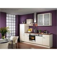 Krem Renginde Mutfak Dolapları Modelleri