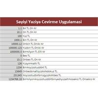 Para Çeviri Sayıyı Yazıya Çevirme Uygulaması