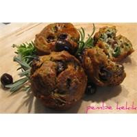 Taze Soğanlı Zeytinli Muffin