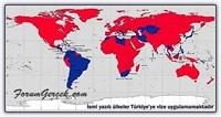 Türkiye ye Vize Uygulayan Ve Uygulamayan Ülkeler
