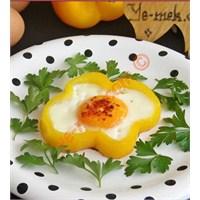 Biber İçi Yağda Yumurta (Resimli Anlatım)