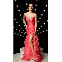 Mercan Rengi Abiye Elbise Modelleri