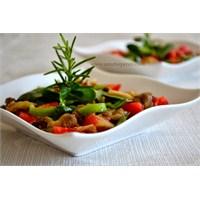 Közlenmiş Diyet Patlıcan Salatası