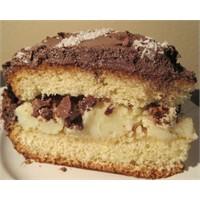 Çikolatalı Cevizli Muzlu Pasta