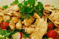 Nohutlu Tavuk Salatası