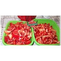 Kışlık Kırmızı Biber Hazırlama