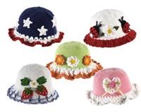 Kız Çocukları İçin Örgü Şapka Modelleri