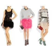 2012 Yılının Tüylü Elbise Modelleri
