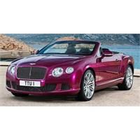 Dört Koltuklu En Hızlı Bentley Cabrio