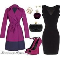 Siyah Elbiseyle Farklı Kombinler -12