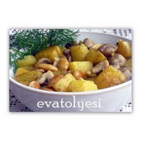 Bademli Ve Mantarlı Patates