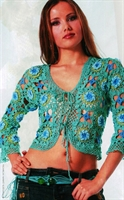 Renkli Örgü Bayan Ceket Modeli