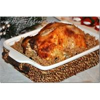 Fırında İç Pilavlı Tavuk Dolma