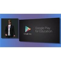 Google Play'de Eğitim Kategorisi Açıldı..