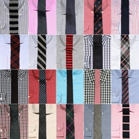 20 Adet Gömlek Ve Kravat Kombinasyonu
