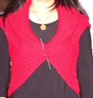 Kırmızı Kolay Bir Bolero Modeli