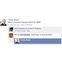 Facebook Yorumlara Etiketleme!