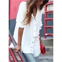 Beyaz Gömlek Kombinleri