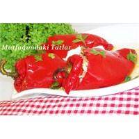 Zeytinyağlı Kırmızı Biber Dolması Mutfakvetatlar