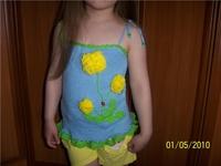 2010 Modeli Askılı Çocuk Bluzu