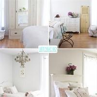 Evde Beyaz Ve Pastelle Romantik Mekanlar Yaratmak