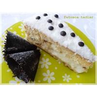 Limon Aromalı Muzlu Yaş Pasta/ Fatosca Tadlar