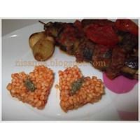 Patlıcan Kebabı Ve Domatesli Kuskus Pilavı