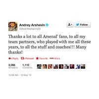 Andrei Arshavin'den Veda Mesajı