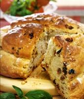 Kuru Domatesli Ve Fesleğenli Ekmek
