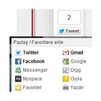 Eklentisiz Sosyal Paylaş Butonları ( Wordpress )