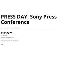 Sony 'nin Ces Basın Toplantısı 6 Ocakta !
