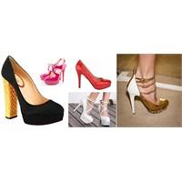 Renkli Topuklu Ayakkabı Modelleri 2013