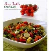 Sebzeli Ve Yoğurtlu Bakla Salatası
